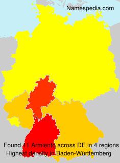 Familiennamen Armiento - Germany