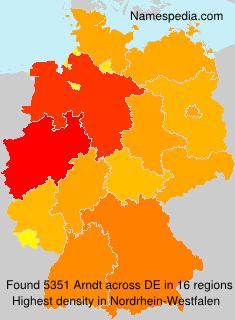 Surname Arndt in Germany