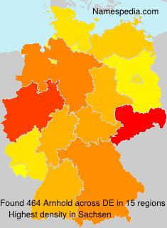 Surname Arnhold in Germany