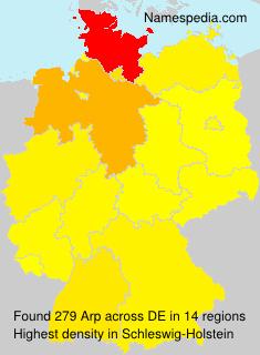 Familiennamen Arp - Germany