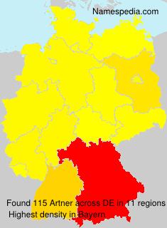 Familiennamen Artner - Germany