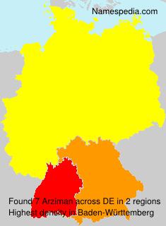 Surname Arziman in Germany