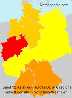 Surname Aslanidou in Germany
