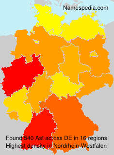 Surname Ast in Germany