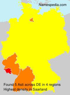 Familiennamen Asti - Germany