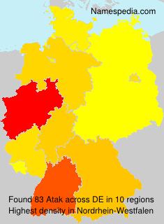 Surname Atak in Germany