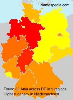 Surname Attia in Germany