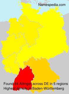Surname Attinger in Germany