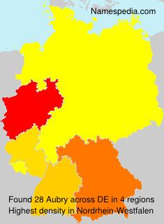 Familiennamen Aubry - Germany