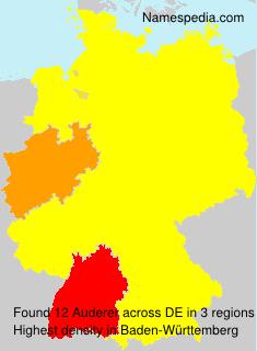 Surname Auderer in Germany