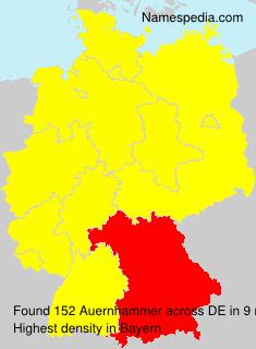 Surname Auernhammer in Germany