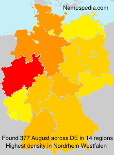 Surname August in Germany