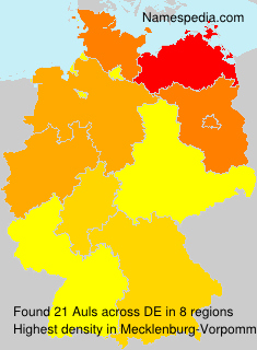 Surname Auls in Germany