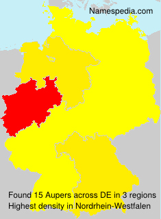 Surname Aupers in Germany
