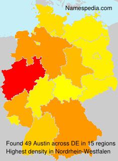 Familiennamen Austin - Germany