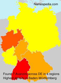 Familiennamen Avanzini - Germany