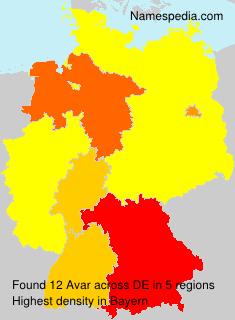 Surname Avar in Germany