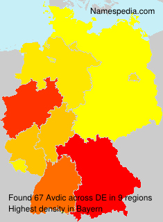 Surname Avdic in Germany