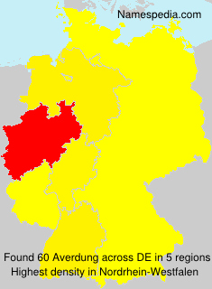 Surname Averdung in Germany