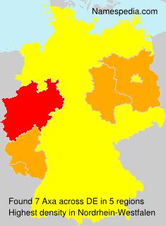 Familiennamen Axa - Germany