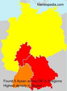 Familiennamen Aysan - Germany