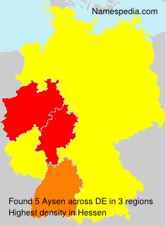 Familiennamen Aysen - Germany