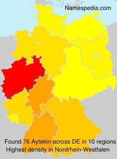 Surname Aytekin in Germany