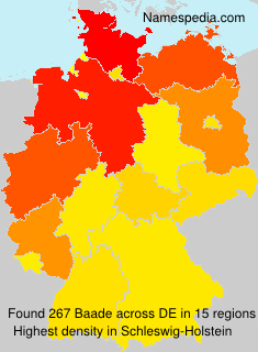 Surname Baade in Germany