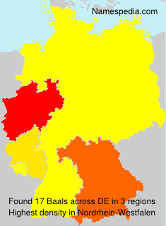 Surname Baals in Germany