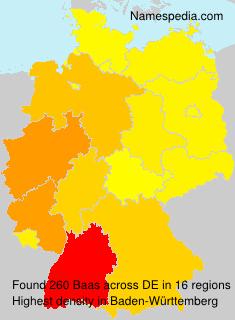 Surname Baas in Germany