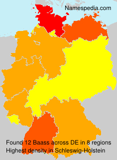 Surname Baass in Germany