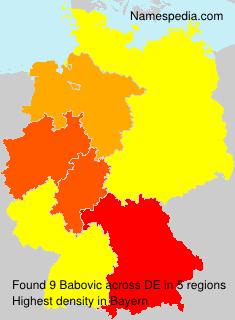 Surname Babovic in Germany