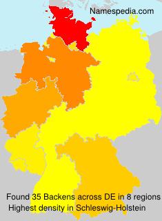 Familiennamen Backens - Germany