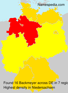 Surname Backmeyer in Germany