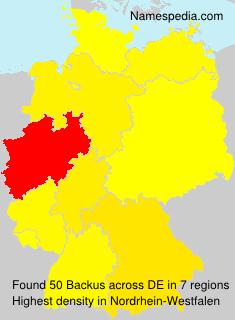 Surname Backus in Germany