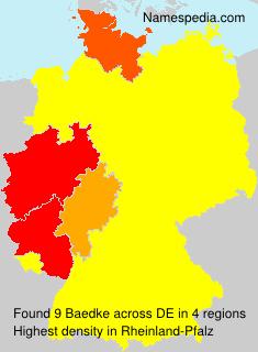 Surname Baedke in Germany