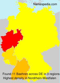 Surname Baehren in Germany