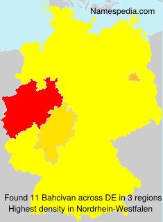 Familiennamen Bahcivan - Germany