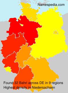 Surname Bahri in Germany