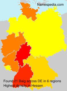 Familiennamen Baig - Germany