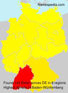 Surname Bailer in Germany