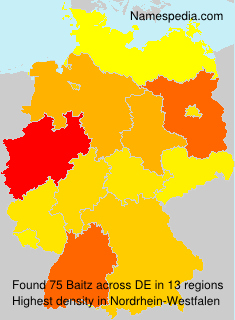 Familiennamen Baitz - Germany