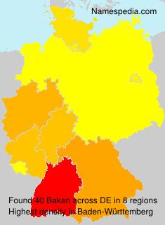 Surname Bakan in Germany