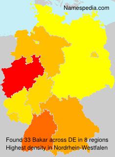 Surname Bakar in Germany