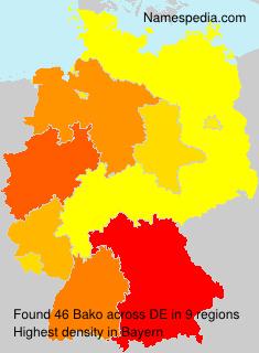 Surname Bako in Germany