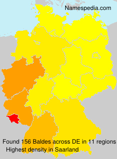 Surname Baldes in Germany