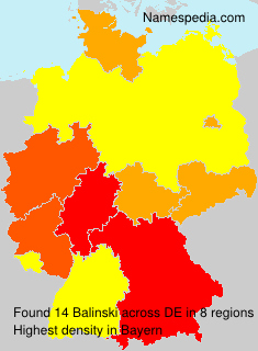 Familiennamen Balinski - Germany