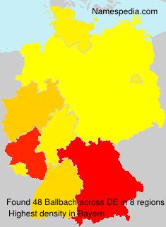Familiennamen Ballbach - Germany