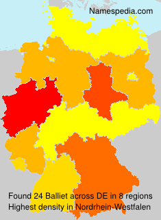 Surname Balliet in Germany