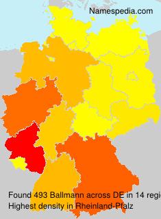 Surname Ballmann in Germany